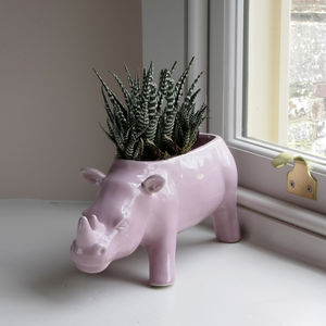 Ceramic Rhinoceros Planter