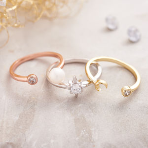 Set Of Three Gold, Silver, Rose Gold Ring - rings