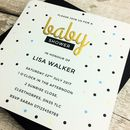 Personalised Dotty Baby Shower Invitations
