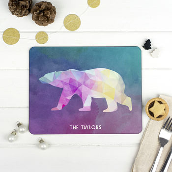 Personalised Christmas Animal Placemat