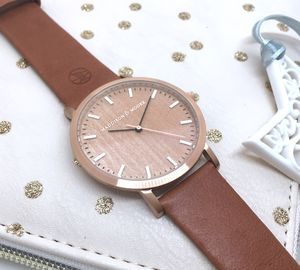 Classic Rose Gold Vintage Unisex Wood Watch - men's accessories