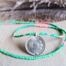 Keepsake Limited Edition Coral And Mint Coin Necklace