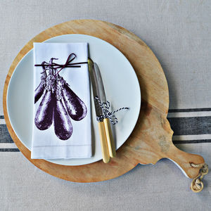 Aubergine Napkin - kitchen