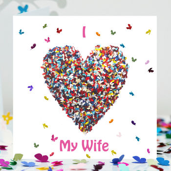 Wife Butterfly Card, Wife Love Card