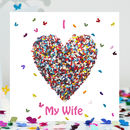 Butterfly Wife Love Card, Wife Valentine's Card