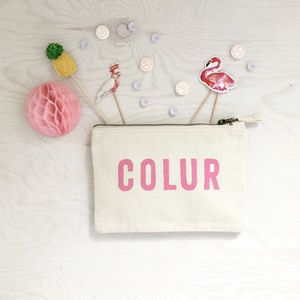 Colur Zipped Purse - make-up & wash bags