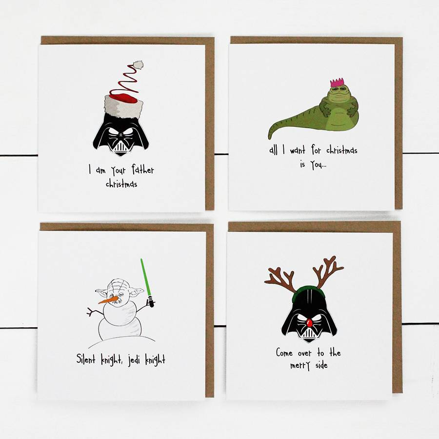 Star Wars Christmas Card Template - Chrismast Cards Ideas