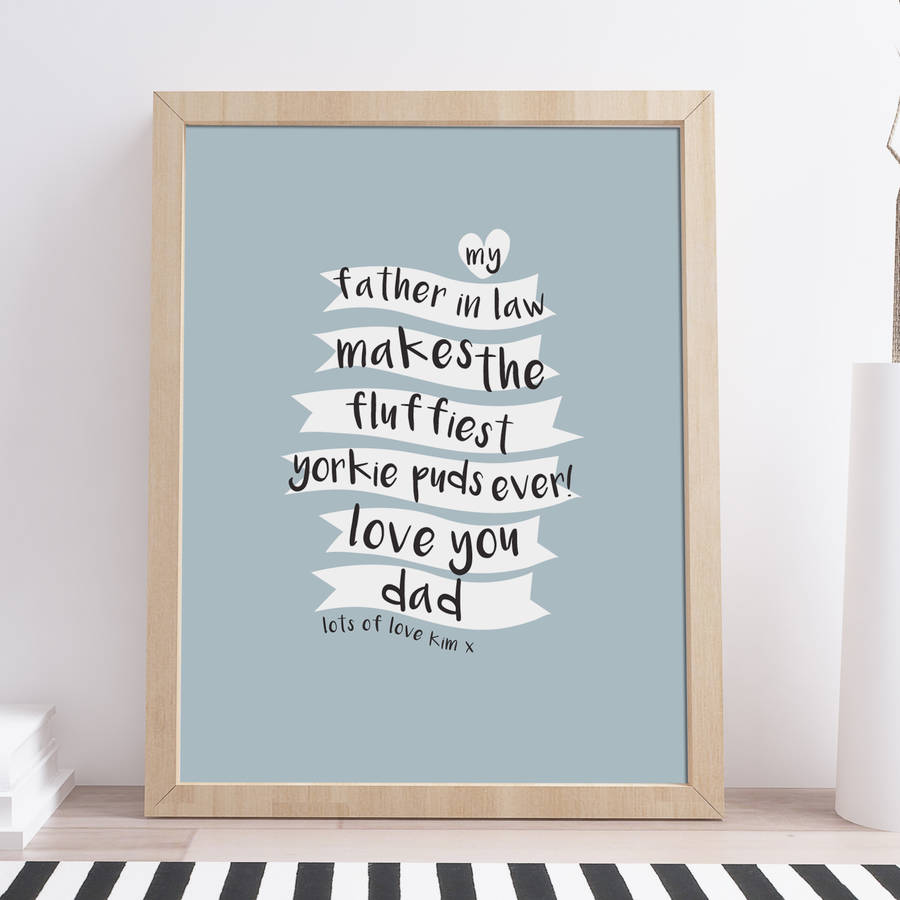 personalised fathers day kitchen print by rocks design ...