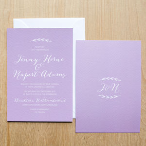 Simple Branch Wedding Invitation - wedding stationery