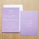 Simple Branch Wedding Invitation