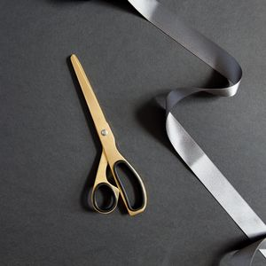 Minimal Brass Gold And Black Scissors - paper clips, staplers & scissors