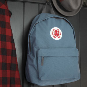'Octopus' Blue Backpack - backpacks