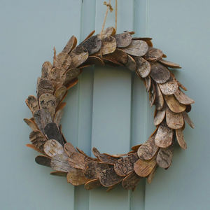 Decorative Birch Wreath - home accessories