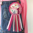 Handmade Girls Unicorn Birthday Rosette Badge