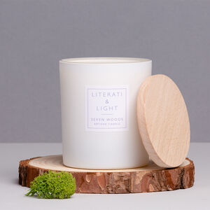 'Seven Woods' Vetiver, Moss, Bluebell Luxury Soy Candle