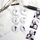 Question mark magnet set for Norman Wisdom memo board