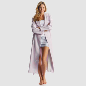 Womens Brushed Cotton Dressing Gown - women's fashion