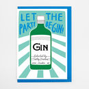 Gin Bottle Card
