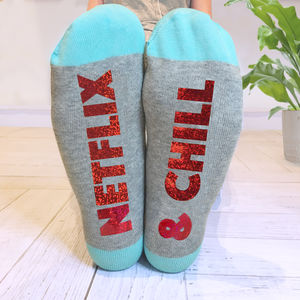 Personalised 'Feet Up' Socks - valentine's gifts for him