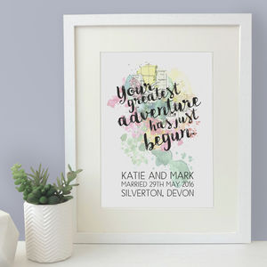 Personalised 'Your Greatest Adventure…' Print