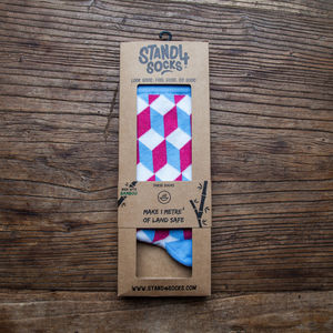 Optic Illusion Land Safe Bamboo Sock - winter sale
