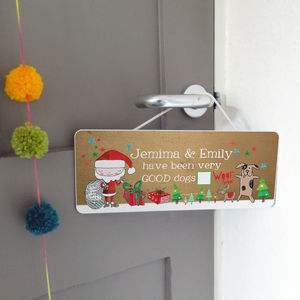 Personalised Good Pet Christmas Sign