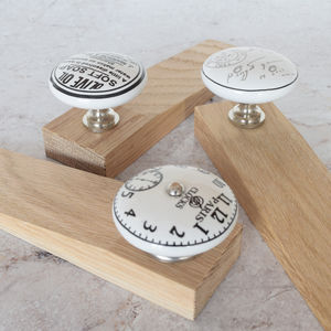 Solid Oak Copper Granite Crystal Ceramic Door Stops - door stops & draught excluders