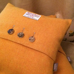 Harris Tweed Cushion With A Stag Horn Detail