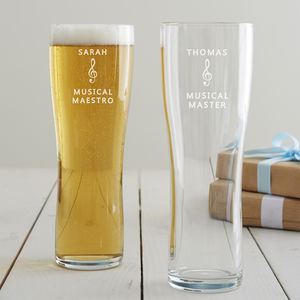 Personalised Music Pint Glass - what's new
