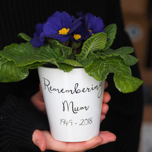 Remembrance Flower Pot Gift With Seeds - pots & planters