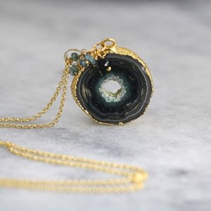 Blue Diamond And Stalactite Necklace