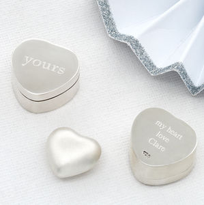 Sterling Silver Yours Keepsake Box With Silver Heart - keepsake boxes