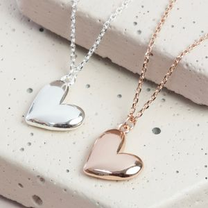 Puffed Heart Pendant Necklace - view all new