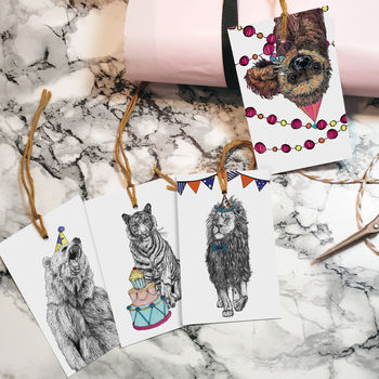 'Party Animals' Gift Tags