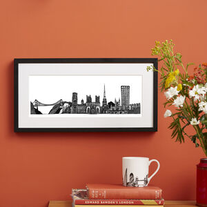 Bristol Skyline Screen Print