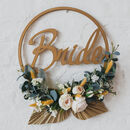 Wedding Floral Hoop Wreath Bouquet Alternative