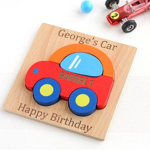 Personalised Car Wooden Puzzle - gifts for babies
