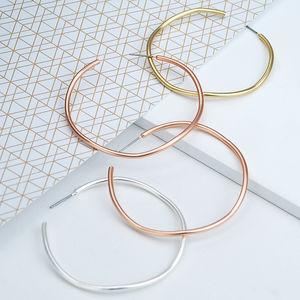 Contemporary Wavy Hoop Earrings