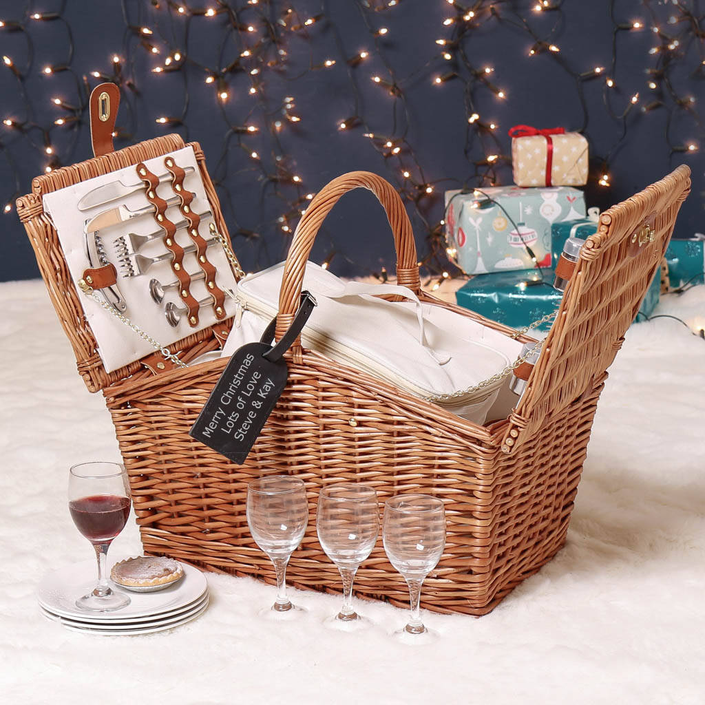 personalised luxury amelie slope sided family hamper by dibor ...