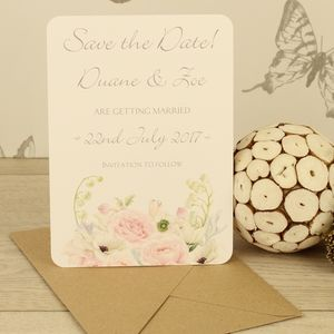 Personalised Charlotte Save The Date Card - new in wedding styling