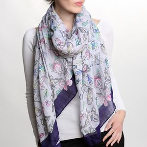 Butterfly And Insect Scarf - summer sale