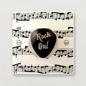 Guitar Plectrum Light Switch - light switches & pulls