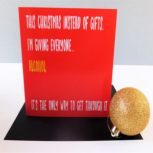Funny 'Alcohol' Christmas Card