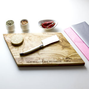 Personalised Geometric Cheese Board - kitchen