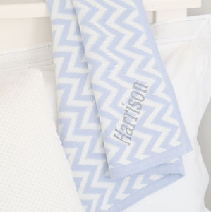 Personalised Chevron Blanket - baby & child sale