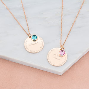 Elsie Memorable Date Personalised Necklace - necklaces & pendants