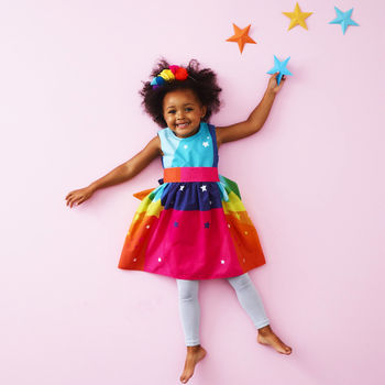 Girls Rainbow Disco Dress