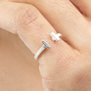Midi Pinky Dual Bar Ring - on trend rings