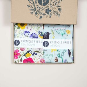 Tea Towel And Apron Gift Box With Recipe Cards