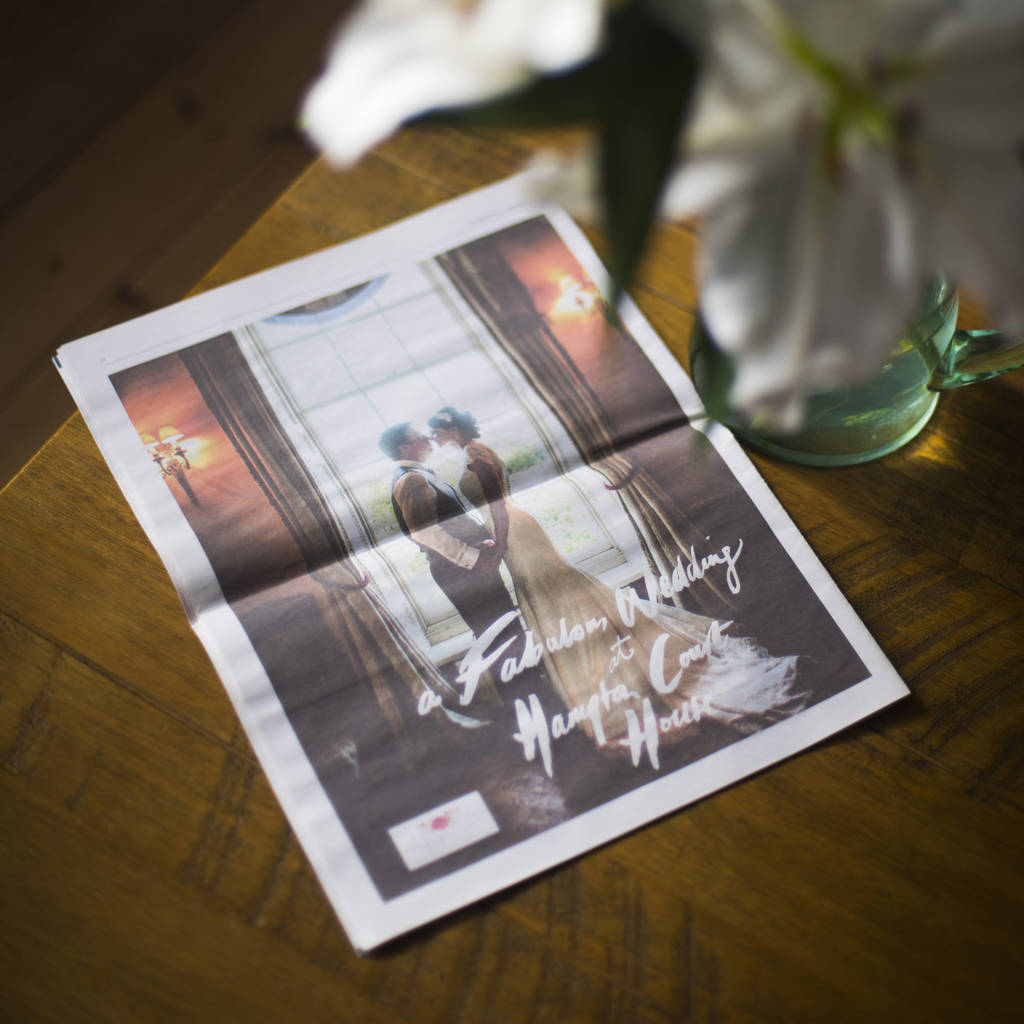 Gifts For Paper Wedding Anniversary: First 'paper' Wedding Anniversary Newspaper By The